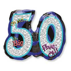 Big 50 Birthday Balloon