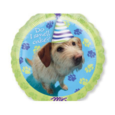 Round Party Pups Balloon
