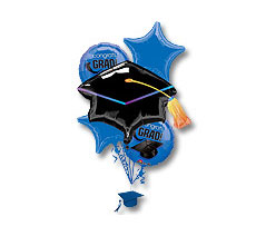 Blue Graduation Balloon Bouquet