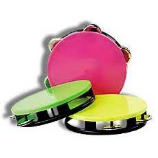 Large Neon Tambourines