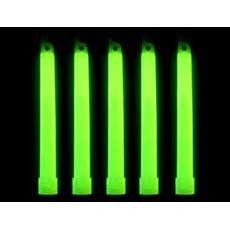 """25 Green 6"""" Lightsticks"""