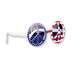 Patriotic Peace Sign Glasses