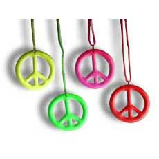Neon Peace Necklace