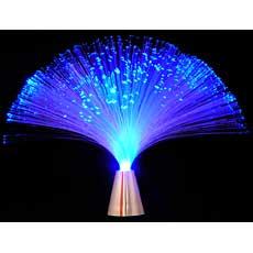 Blue Fiber Optic Light