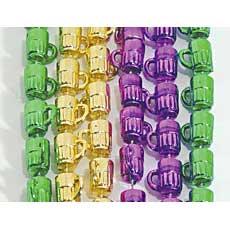 Mardi Gras Mug Beads