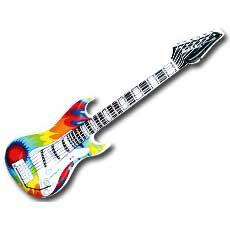 Tye Dye Guitar Inflate