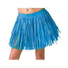 Blue Mini Hula Skirt