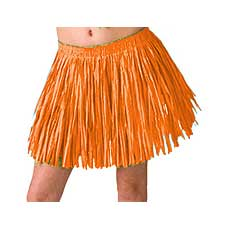 Orange Mini Hula Skirt