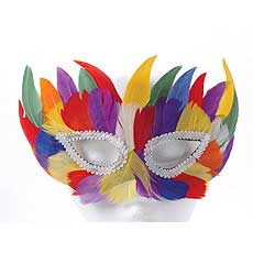 Colorful Feather Mask