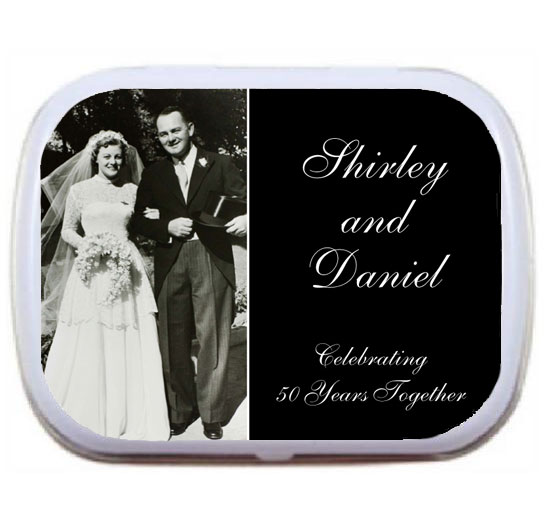Anniversary Add A Photo Mint Tin / A mint or candy tin for any anniversary