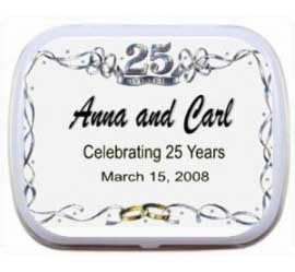 25th Anniversary Party Mint Tin / A great 25th anniversary favor
