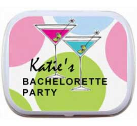Bachelorette Mint Tin, Martinis  Theme