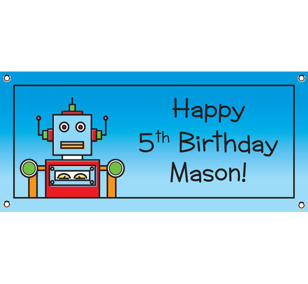 Robot Theme Banner / Do the robot at your party with this fun robot banner!