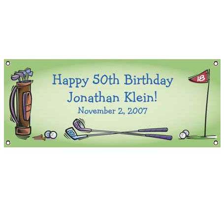 Golf Party Theme Banner / Everything's up to par for the golfer's celebration!