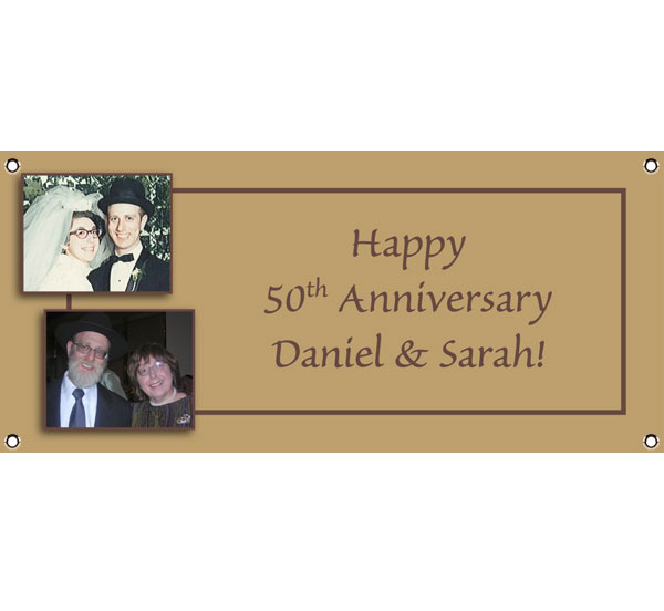 50th Anniversary Theme Banner / A golden anniversary banner for a 50 year anniversary party!