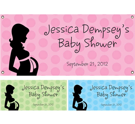 Baby Shower Mommy Theme Banner / For the modern mommy to be, a modern baby shower banner.