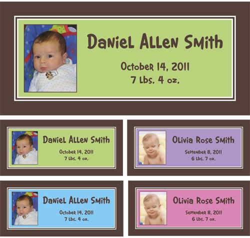Baby Photo Announcement Banner
