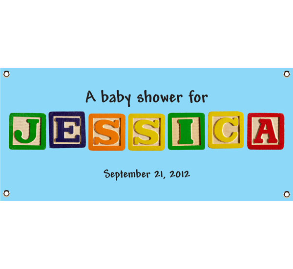 Baby Blocks Banner / The building blocks of your new life, right on this baby shower banner!