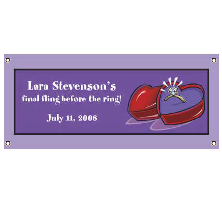 Engagement Ring Party Banner