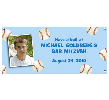 Baseball All Star Theme Banner / Hit one out of the park with this baseball theme banner!