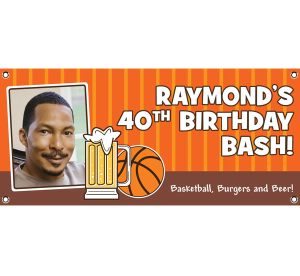 Basketball Celebration Theme Banner / It's all net with this basketball banner!