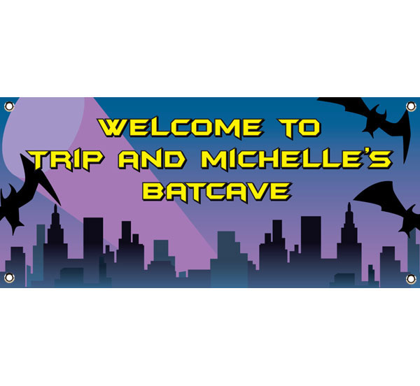 Kapow! Batman Theme Party Banner / Bat caves and bat banners.