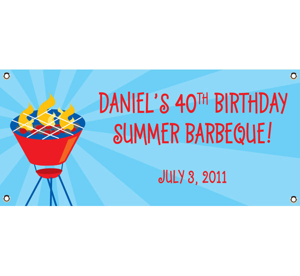 Barbecue Theme Banner / Welcome to the Barbecue with this grill banner!