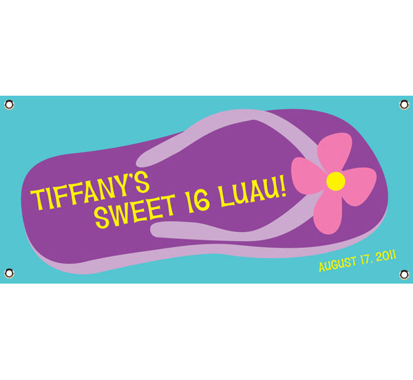 Flip Flop Theme Banner / Flip flops are the perfect summer party theme!