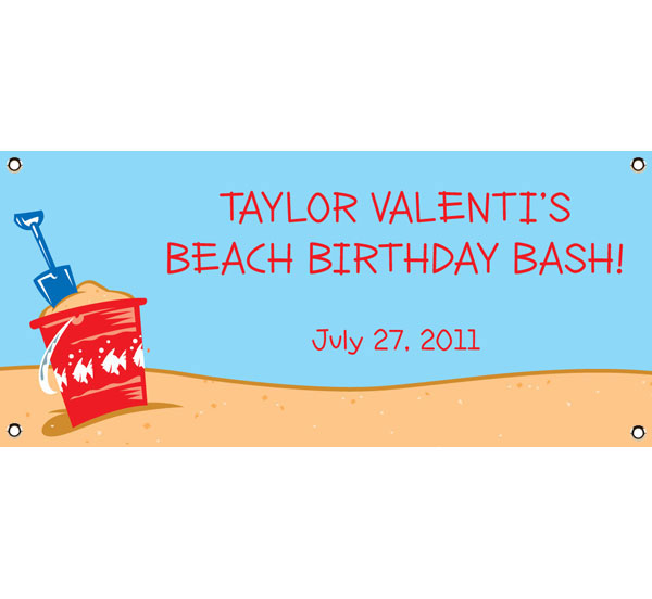 Beach Party Theme Banner