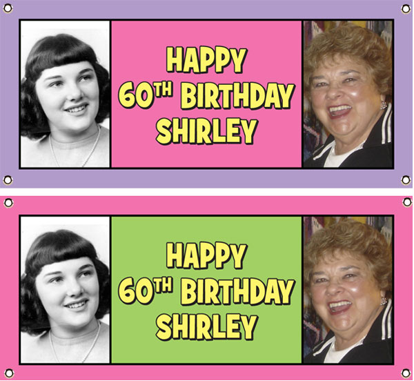 Birthday Double Photo Theme Banner