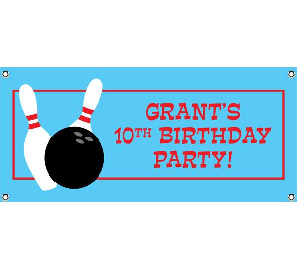 Bowling Theme Banner / This bowling party banner is a strike every time!