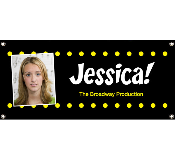 Broadway Lights Theme Banner / This is your marquee! See your face in lights at your Hollywood party!