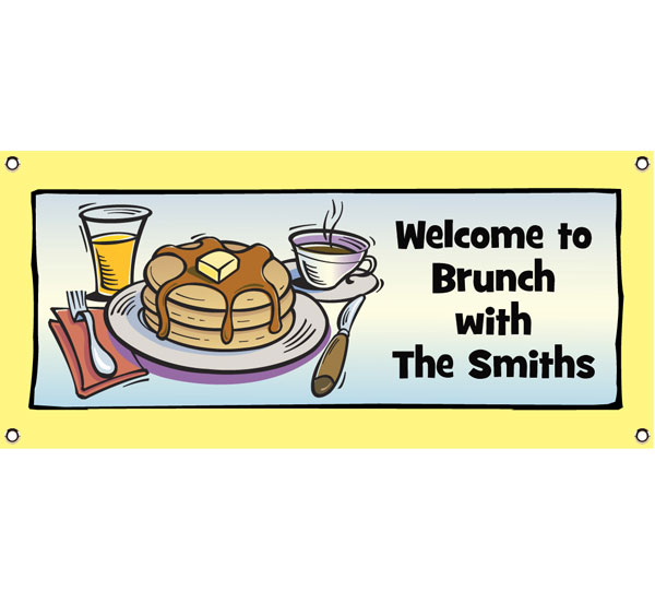 Brunch Theme Banner / MMMM a brunch party banner!