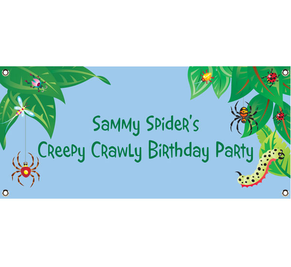Wriggly Bugs Theme Banner / This springtime banner won't bug you!