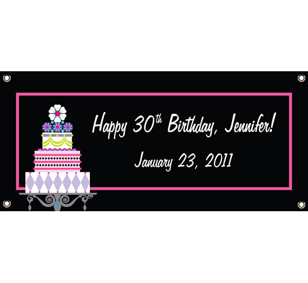 Birthday Cake Theme Banner