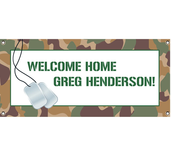 Camouflage Theme Banner / Don't worry. It's camouflage but your guests will see it.