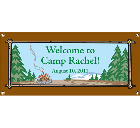 Camping Theme Banner / A great banner for a camp theme birthday party!