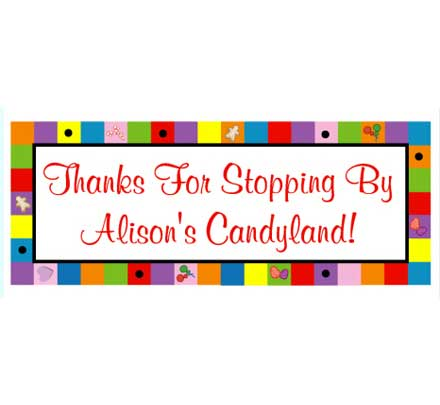 Candyland Theme Banner / Great colorful banner for a Candyland theme birthday party!
