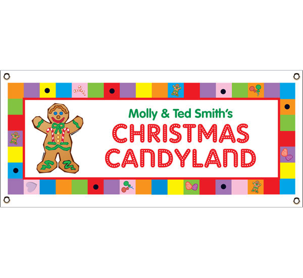 Christmas Candyland Theme Banner / A great personalized Christmas party banner for a Christmas Candyland party.