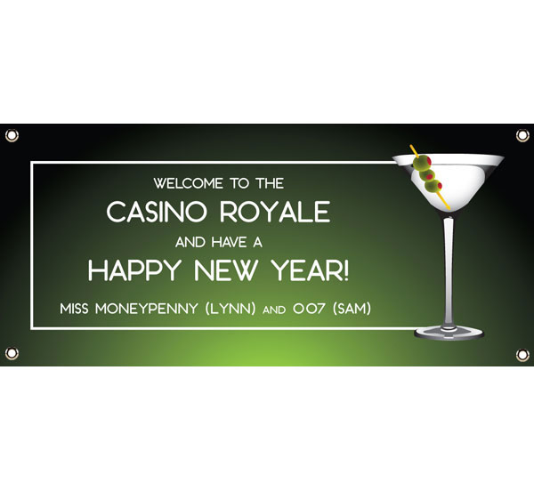 casino royale martini theme banner