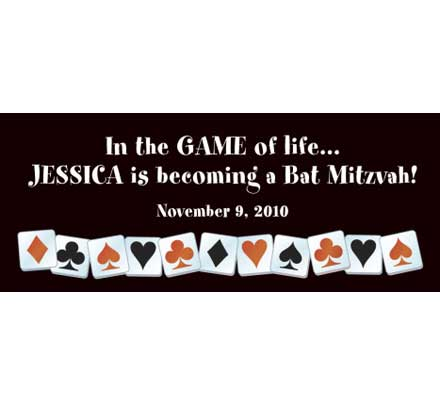 A Casino Party Theme Banner