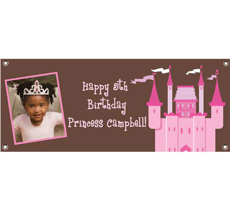 Birthday Castle Theme Banner / Welcome your guests to your kingdom with this princess castle banner!