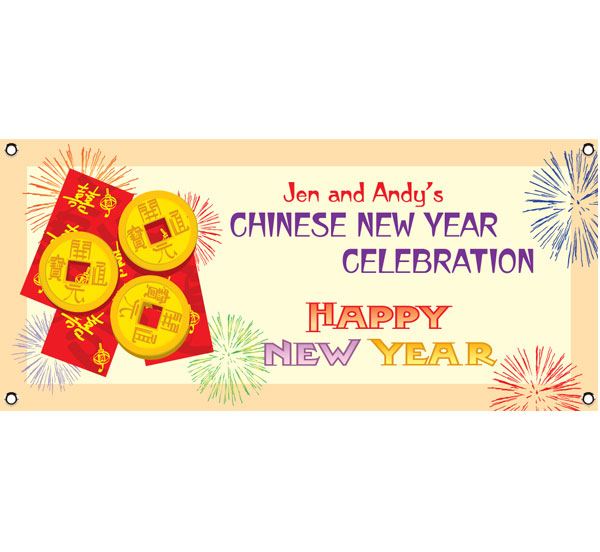 New Years, Chinese New Year Banner / Happy Chinese New Year with this colorful banner.