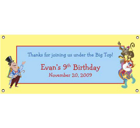 Birthday Banner Circus Theme