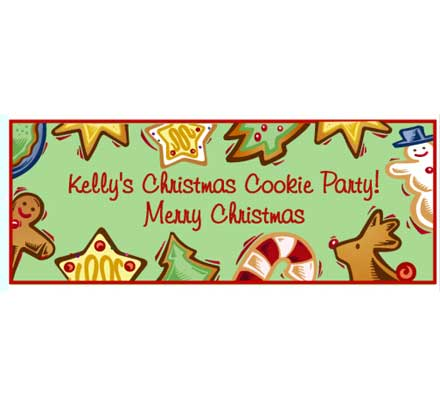 Christmas Cookies Theme Banner / Your guests might try to smell this holiday cookie banner and the cookies