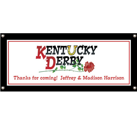 Kentucky Derby Theme Banner / Not exactly roses, but your guests will love this derby banner all the same.