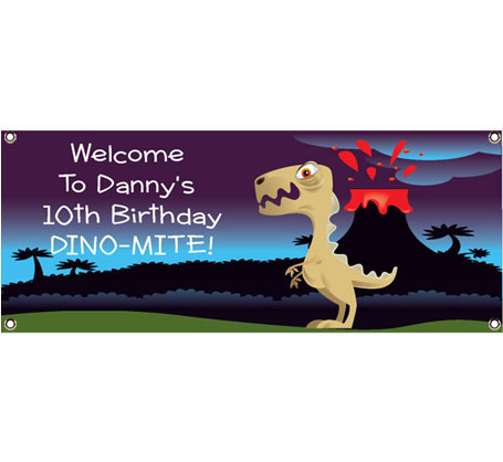 Dinosaur Theme Banner / What kid wouldn't want to be greeted by a dinosaur banner!