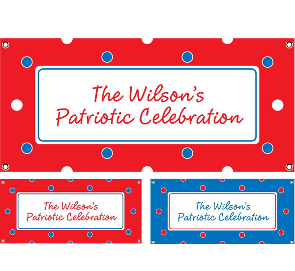 Polka Dot Patriotic Theme Banner