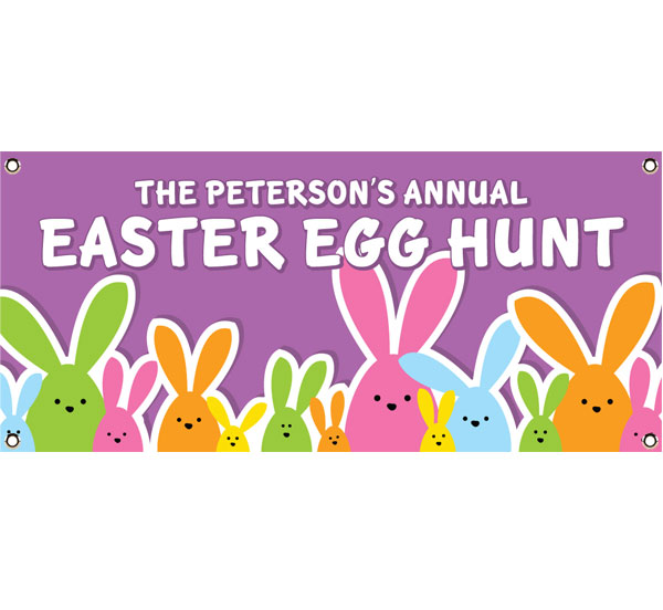 Colorful Easter Bunnies Theme Banners