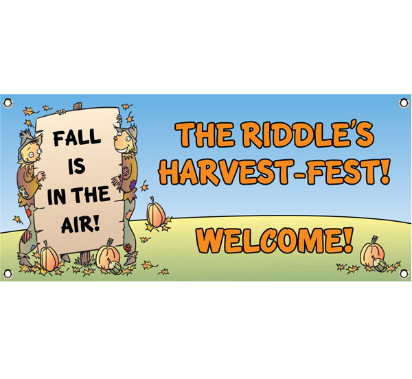 Harvest Party Theme Banner